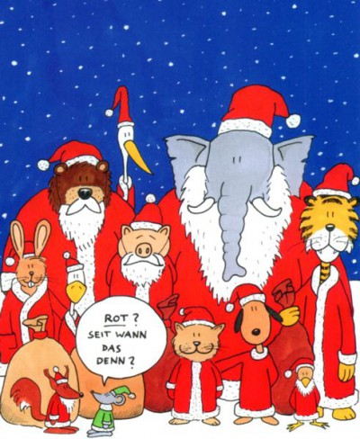 Grüne Weihnachten von Jesko Friedrich: Rot? Seit wann das denn?