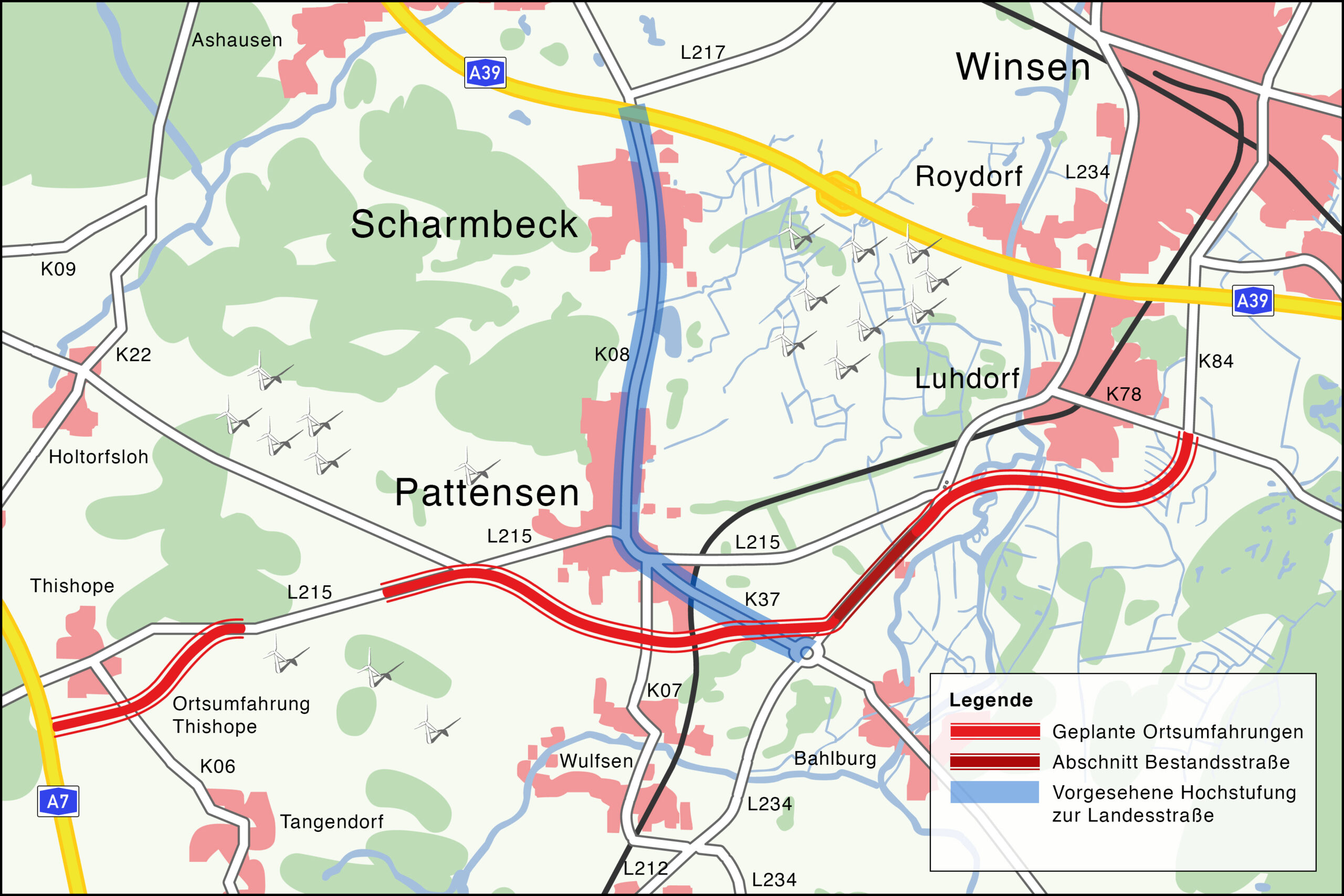 Ortsumfahrung Luhdorf und Pattensen