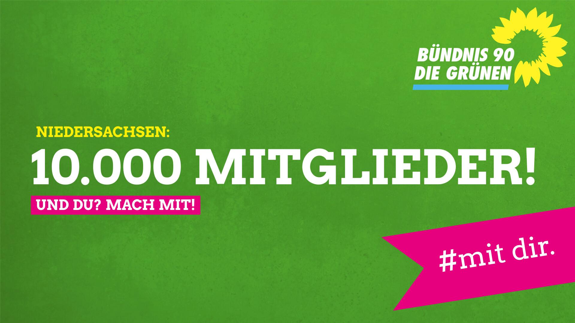 Mitgliederrekord: 10.000 GRÜNE Mitglieder in Niedersachsen