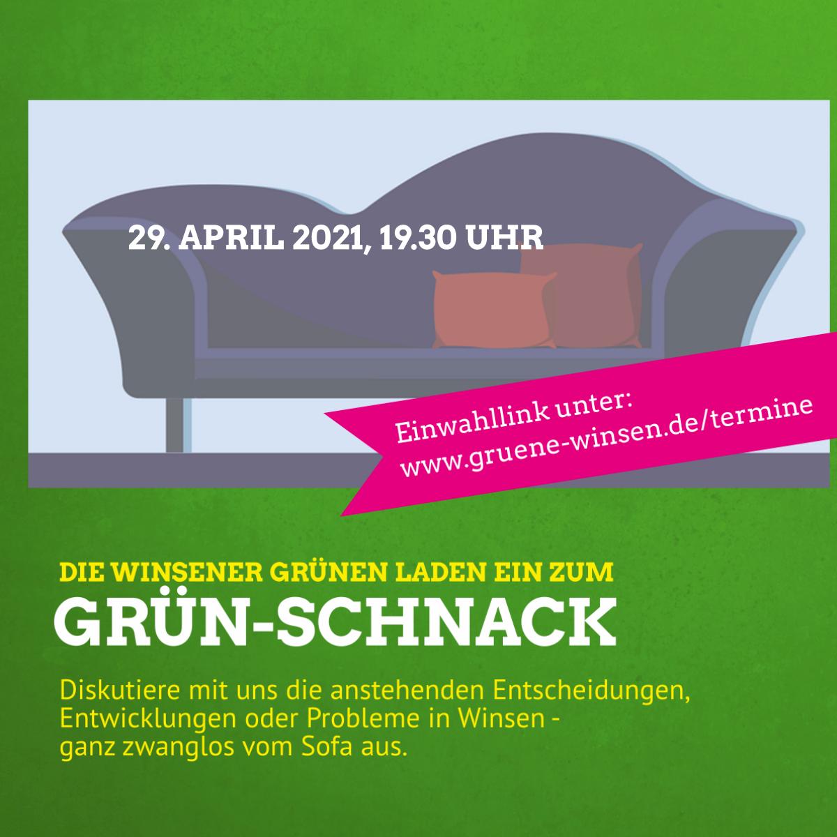 Einladung zum GRÜN-Schnack