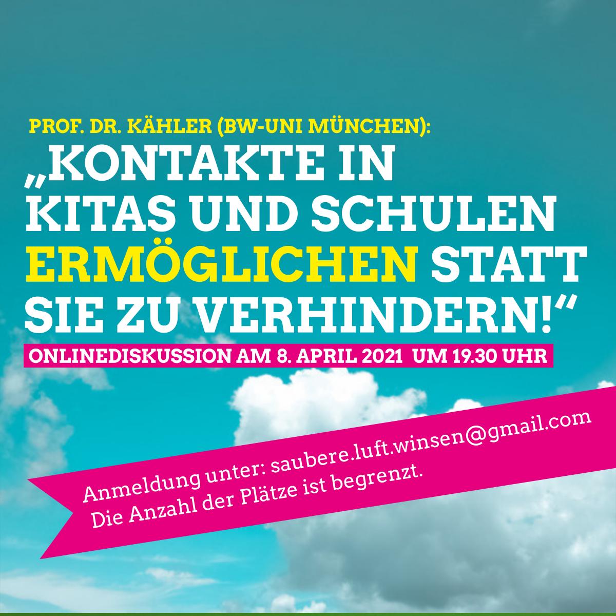 """Prof. Dr. Kähler: """"Kontakte in Kitas und Schulen ermöglichen statt sie zu verhindern!"""""""