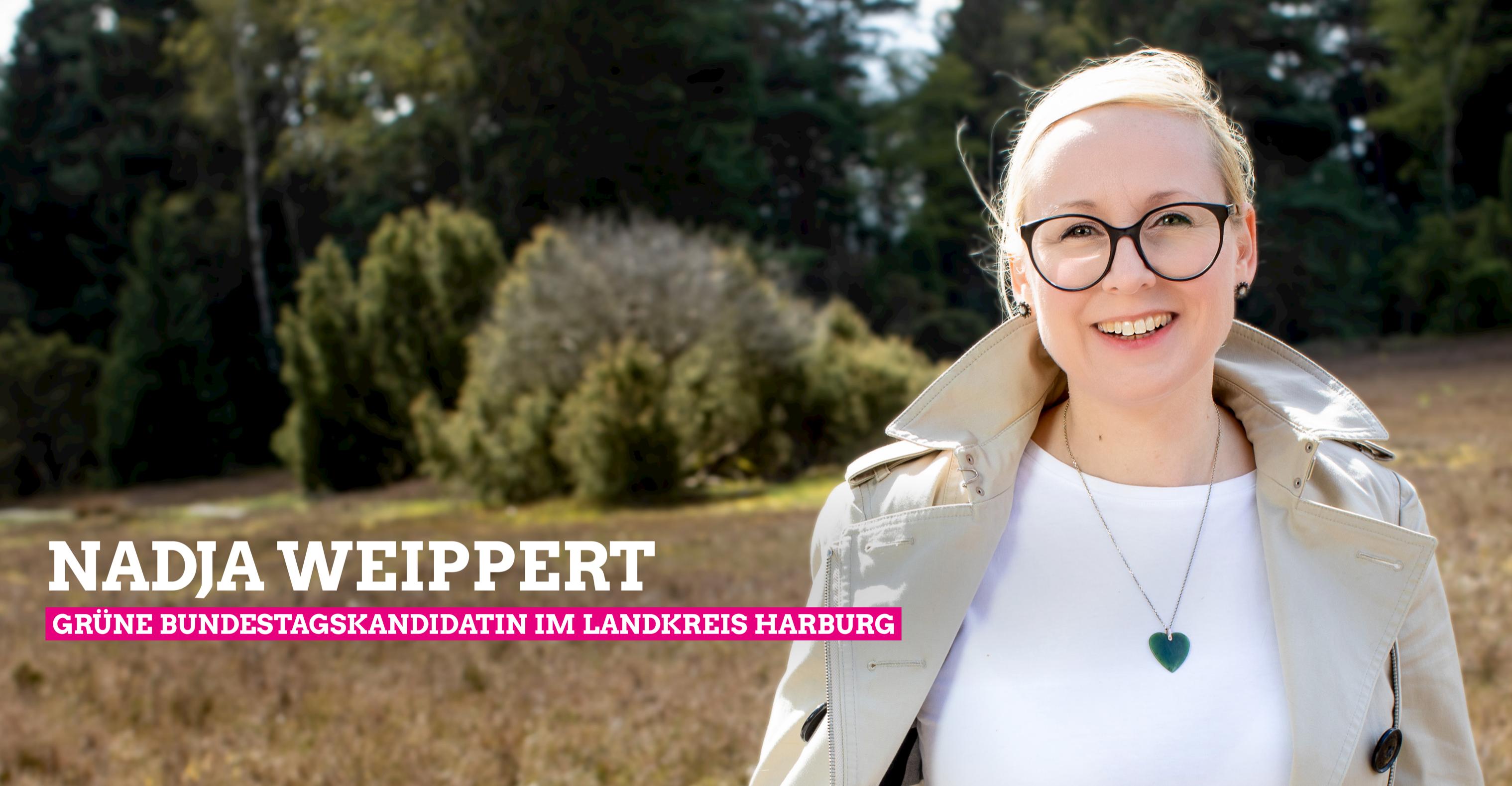Nadja Weippert: GRÜNE Direktkandidatin für die Bundestagswahl im Landkreis Harburg