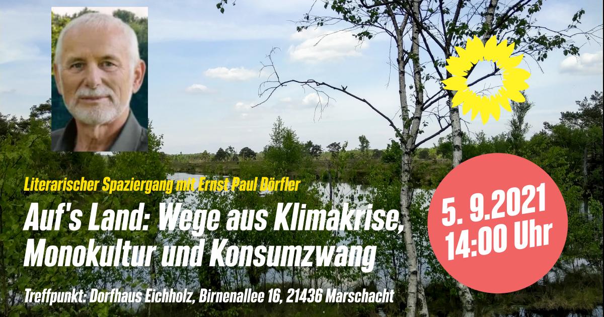 Literarischer Spaziergang mit dem Autor Ernst Paul Dörfler