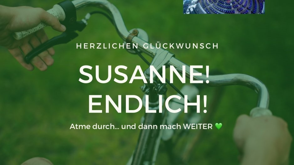 Herzlichen Glückwunsch zum Einzug in den Bundestag, Susanne!
